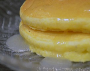 Corn Muffin Pancakes with Buttermilk Syrup