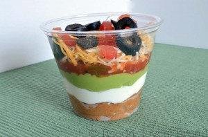 Seven Layer Dip Cups & FAST Refried Beans