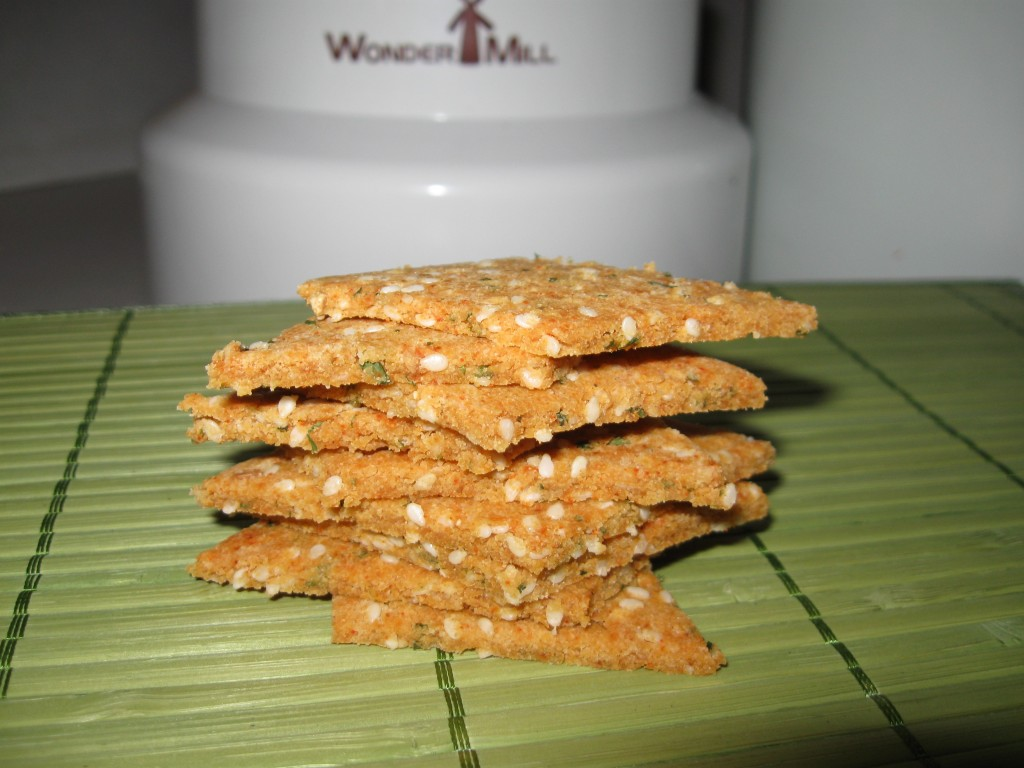 Savory Sesame Brown Rice Crackers