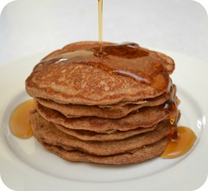100% Whole Wheat Pancakes
