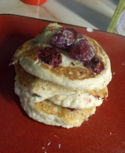 Ricotta Raspberry Pancakes