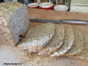 Bread Machine:  Seeded Whole Wheat Bread