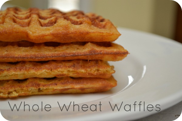 100% Whole Wheat Waffles