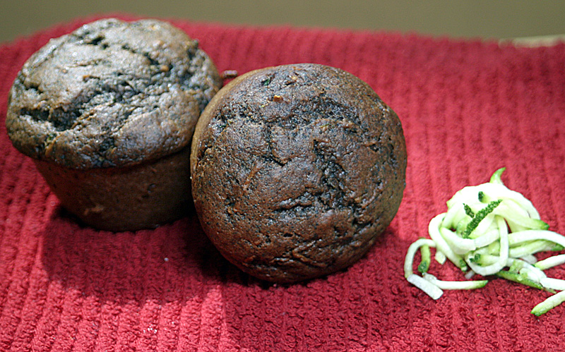 Chocolatey Black Bean Zucchini Cupcakes