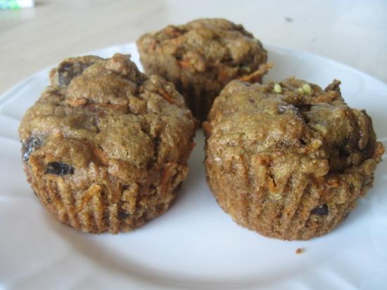 Carrot Prune Spelt Muffins