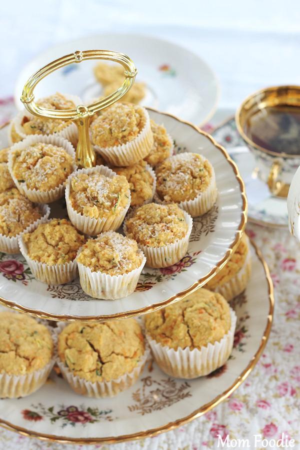 gluten free coconut veggie muffin