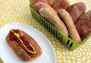 Homemade Whole Wheat Hot Dog Buns