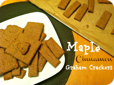 Maple Cinnamon Graham Crackers