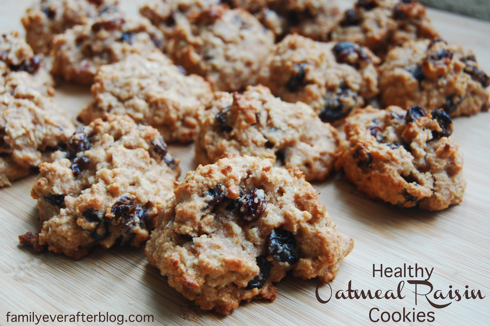 Healthy Oatmeal Raisin Cookies | Grain Mill Wagon