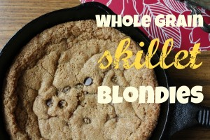 whole grain skillet blondies
