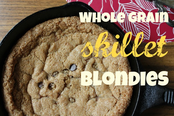 Whole Wheat Skillet Blondies