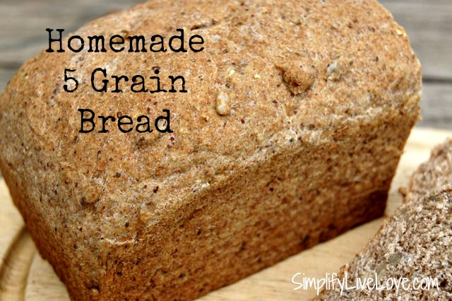 Homemade 5 Grain Bread ~ 5 loaves in under 90 minutes