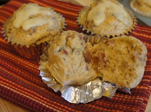 Bacon Cheese Rye Muffins