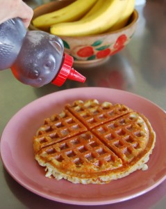 Easy Cheesy Buttermilk Waffles