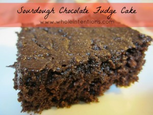 Sourdough Chocolate Fudge Cake