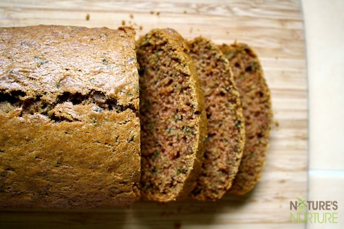 Zucchini Spice Bread with Coconut Oil