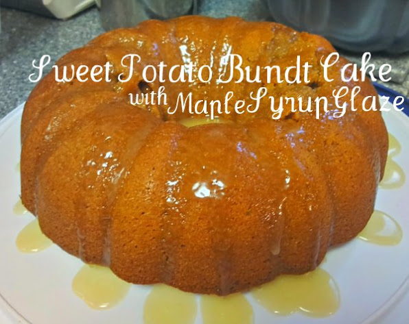 sweet potato bundt cake maple syrup glaze recipe