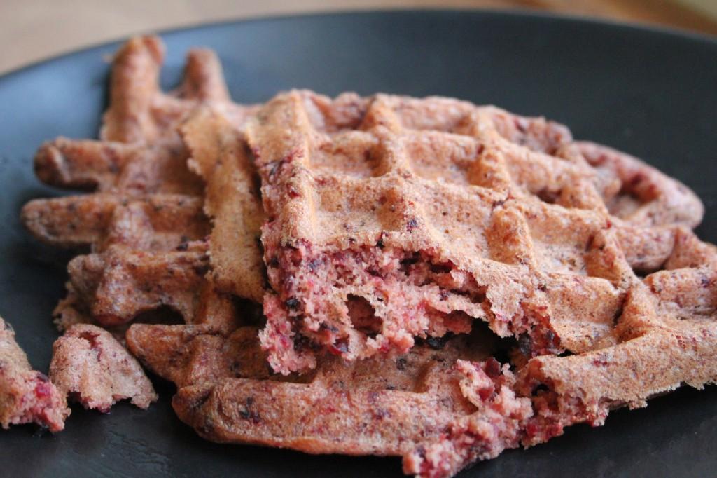 Whole Wheat Beet Waffles