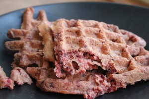 Whole Wheat Beet Waffles