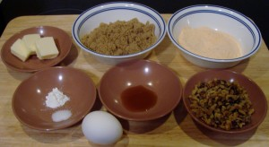 lentil brownie ingredients