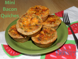 Mini Bacon Quiches with Spelt Pie Crust