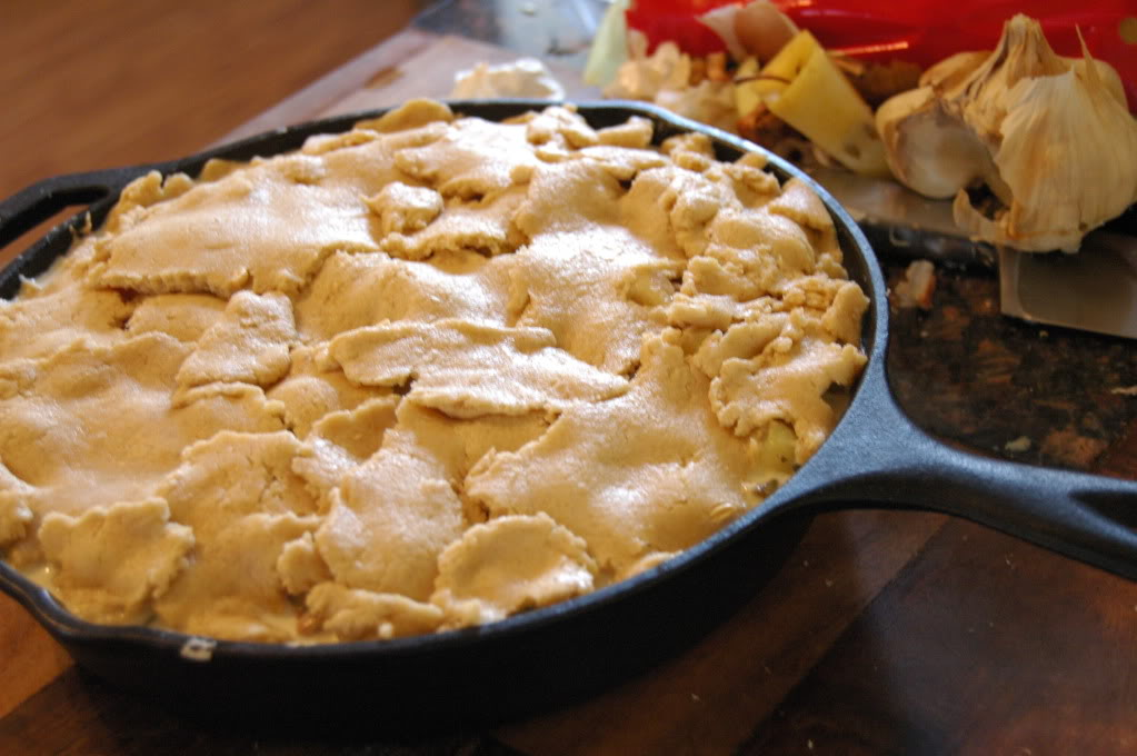 Yogurt Dough & Turkey Pot Pie
