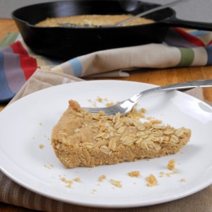 Oatmeal Shortbread Skillet Cookie
