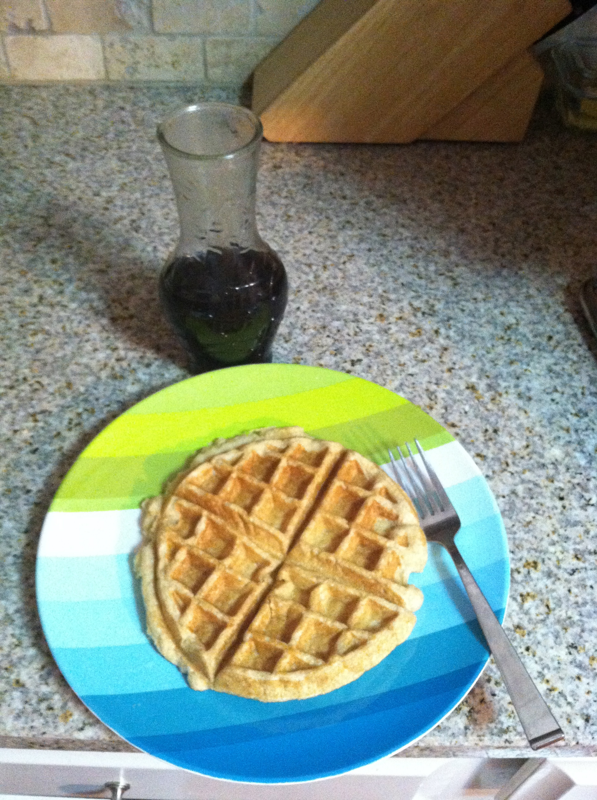 Hard White Waffles and Homemade Sucanat Syrup