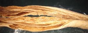 cinnamon twist bread cut the roll of dough