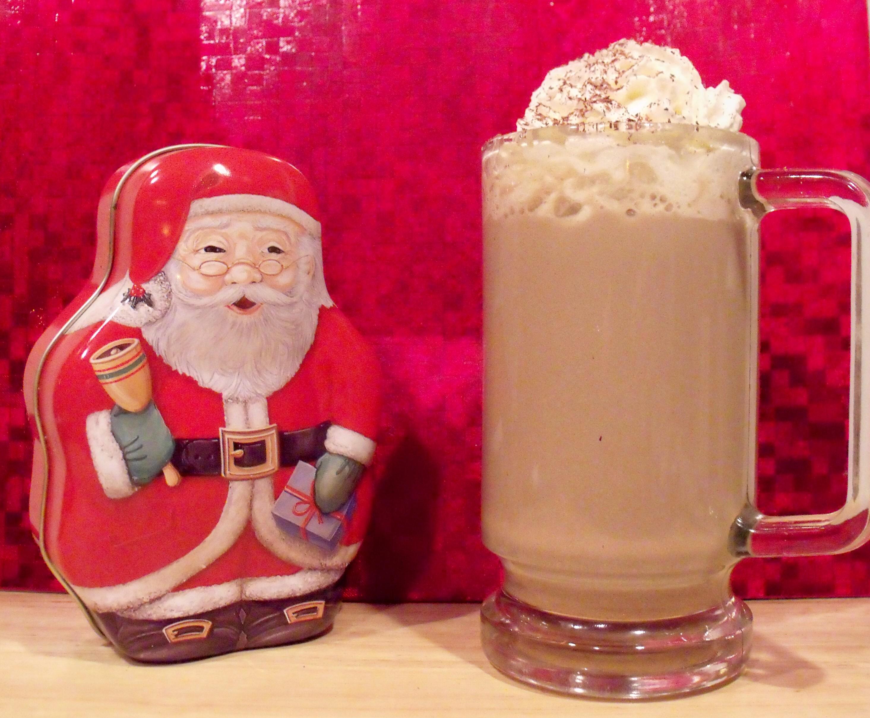 Homemade Soy Milk Mocha Latte