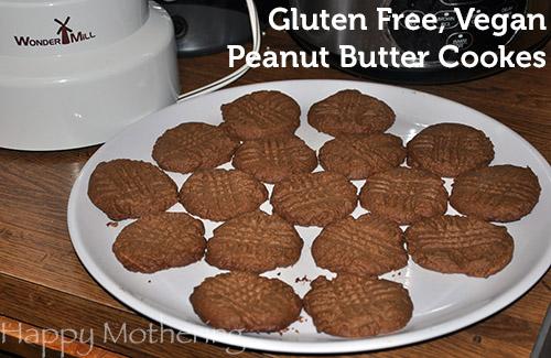Gluten Free, Vegan Peanut Butter Cookies