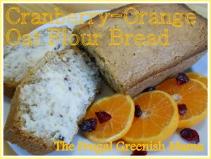 Cranberry Orange Oat Flour Bread