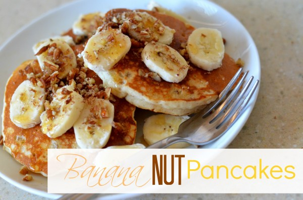 Banana Nut Pancakes with Oat Flour