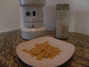 Making Light Wheat Pasta with the Wonder Mill