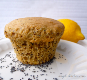 Angela's Kitchen Gluten Free Dairy Free Lemon or Almond Poppy Seed Muffins
