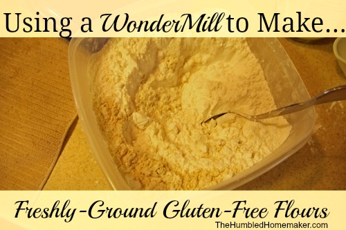 Using a WonderMill to Make Freshly-Ground Gluten Free Flours