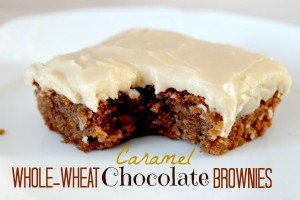 Whole Wheat Caramel Chocolate brownies