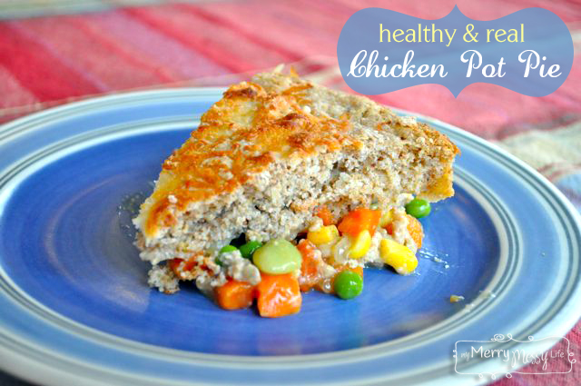 Healthy Chicken Pot Pie Recipe with Real Ingredients