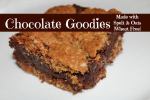 Chocolate Goodies – Made with Spelt and Oats {Wheat Free}