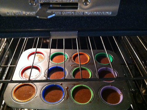 cupcakes in oven