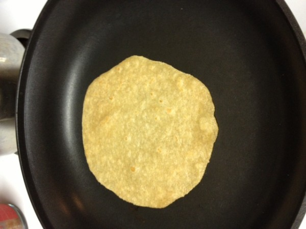 finished tortilla