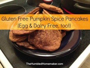 GF Pumpkin Spice Pancakes {Egg and Dairy Free, Too!}