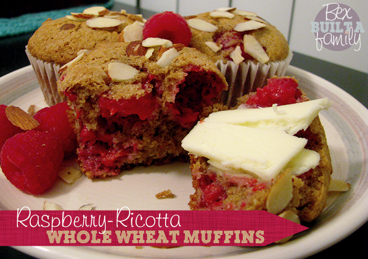 Whole Wheat Raspberry-Ricotta Muffins