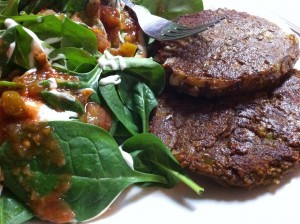 Black Bean Burgers {using freshly ground black bean flour!}