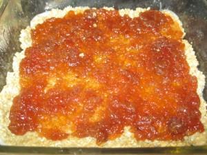 Crust and jam.