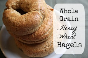 Whole Grain Honey Wheat Bagels
