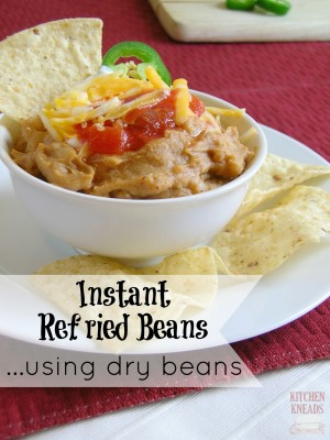 Instant Refried Beans using Dry Beans