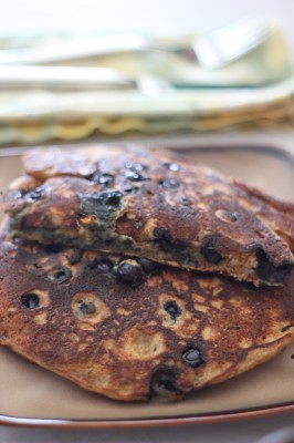 No-Buttermilk and Blueberry Pancakes