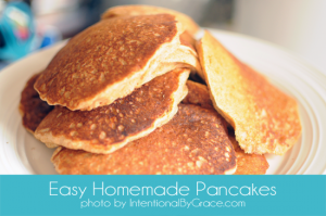 easy homemade pancakes