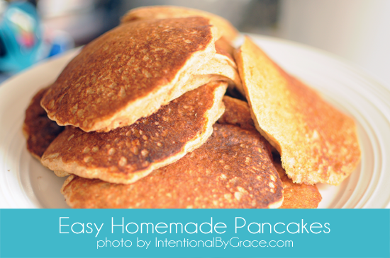 Kids in the Kitchen {Easy Homemade Pancakes}
